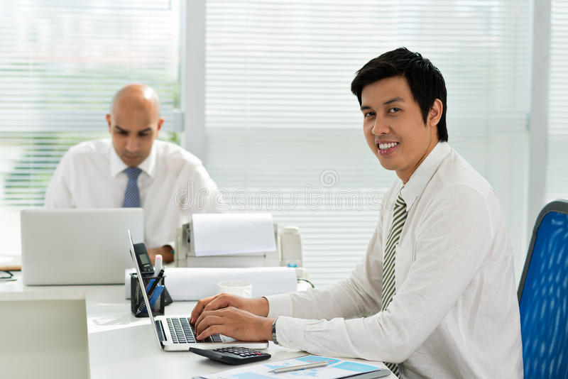 Asian manager royalty free stock image