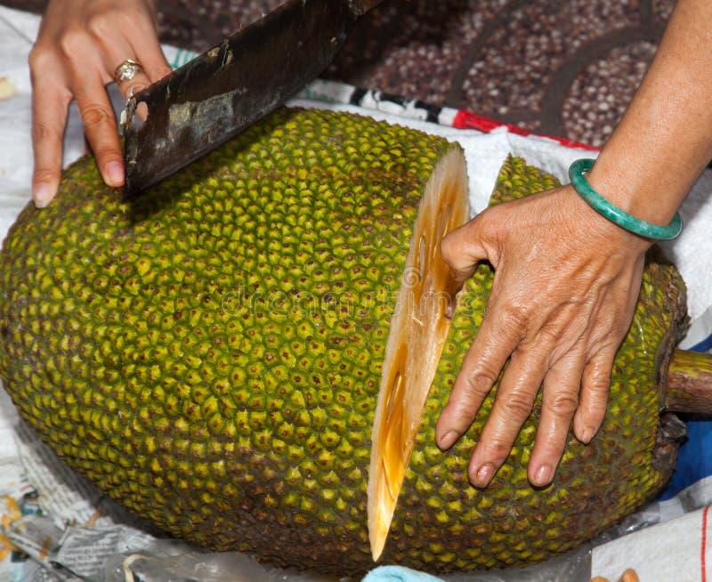 Asian market foods bread fruit stock photo