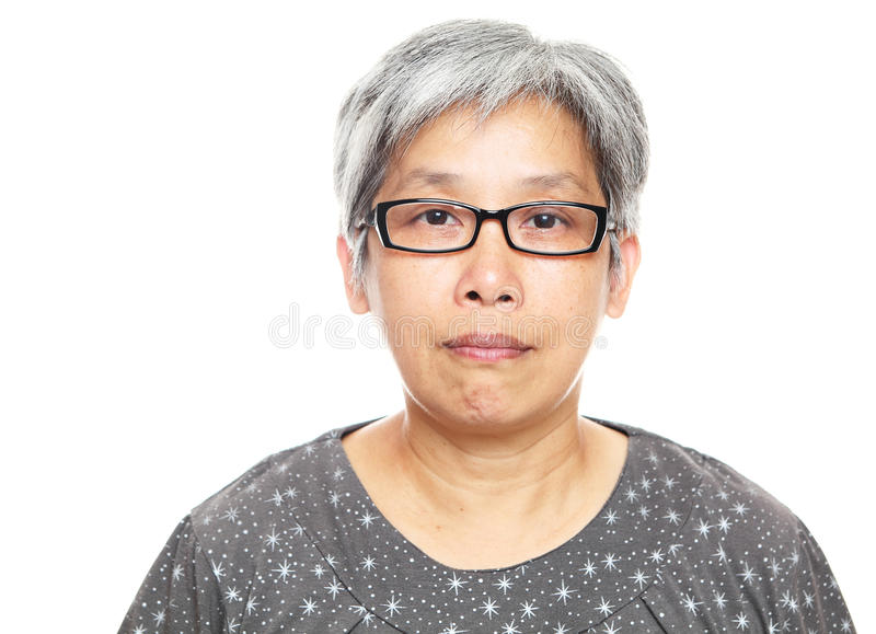 Asian mature woman royalty free stock image