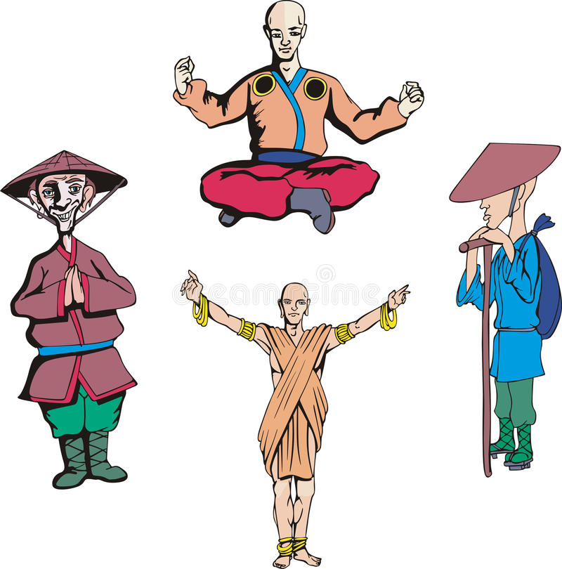 Download Asian men stock vector. Image of orient, character, vietnamese - 25224801