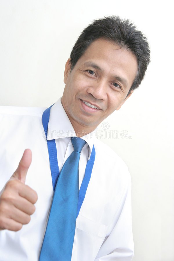 Asian middle age business man royalty free stock image