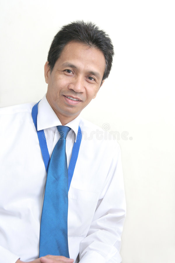 Asian middle age business man stock image