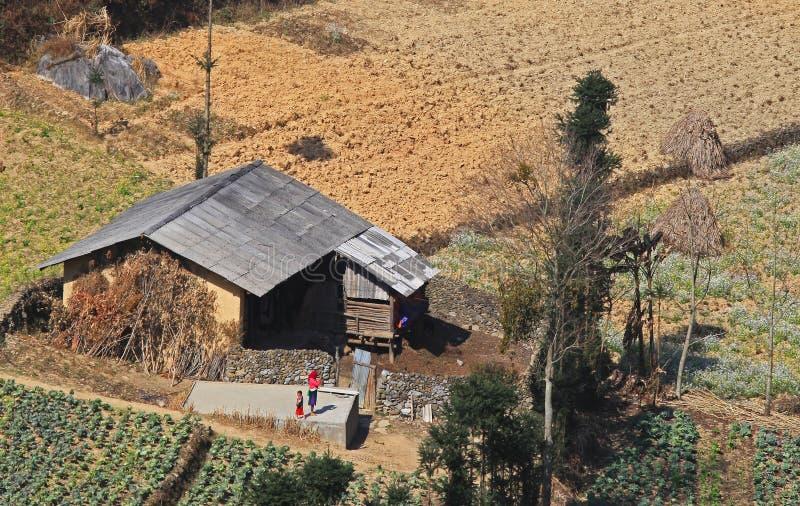Asian minority village royalty free stock photo
