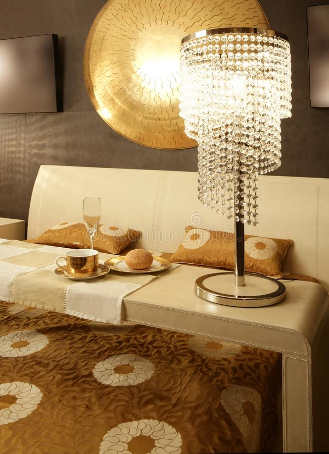 Asian modern bedroom breakfast luxury table royalty free stock photos