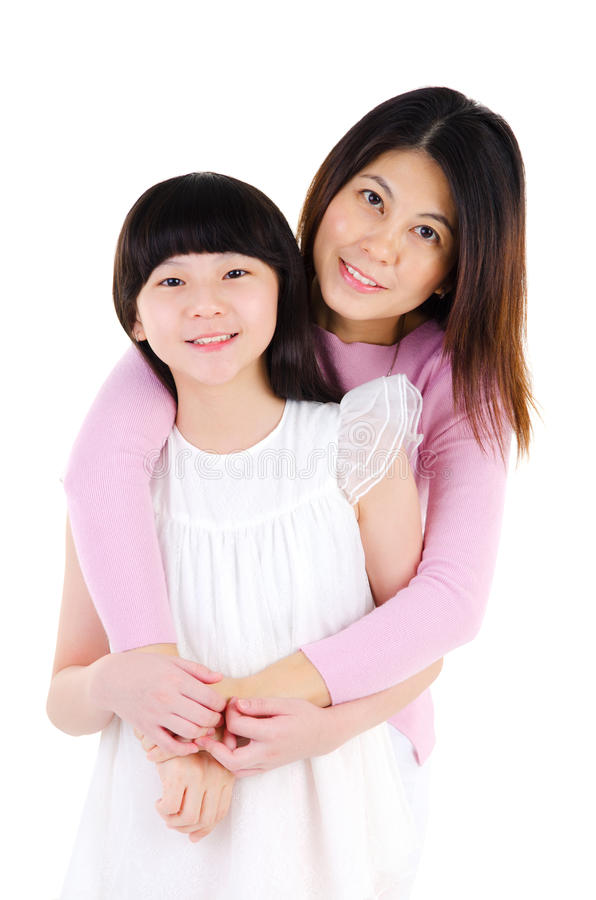 Asian mother and daughter stock photography