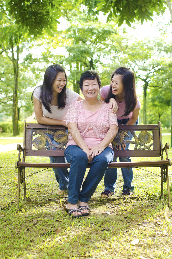 Asian Mother And Daughters Royalty Free Stock Image