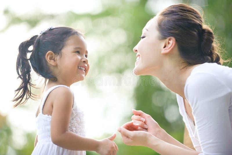 Asian Mum & daughter royalty free stock photos