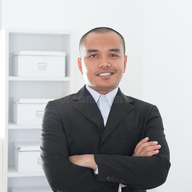 Asian Muslim business man royalty free stock photography