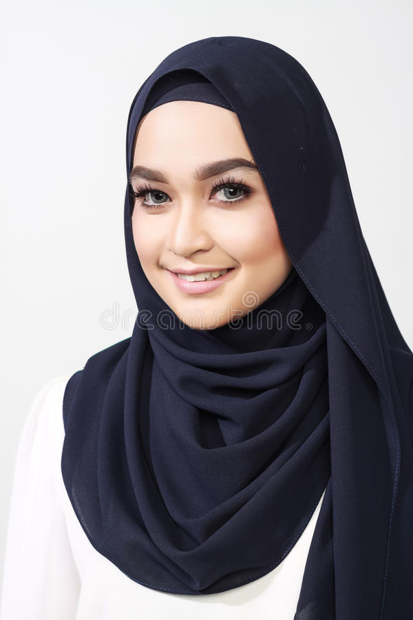 Asian muslimah woman expression stock photos