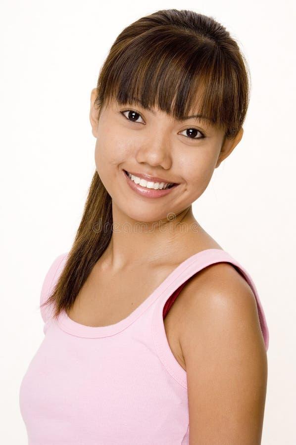 Asian na cor-de-rosa 4 fotos de stock