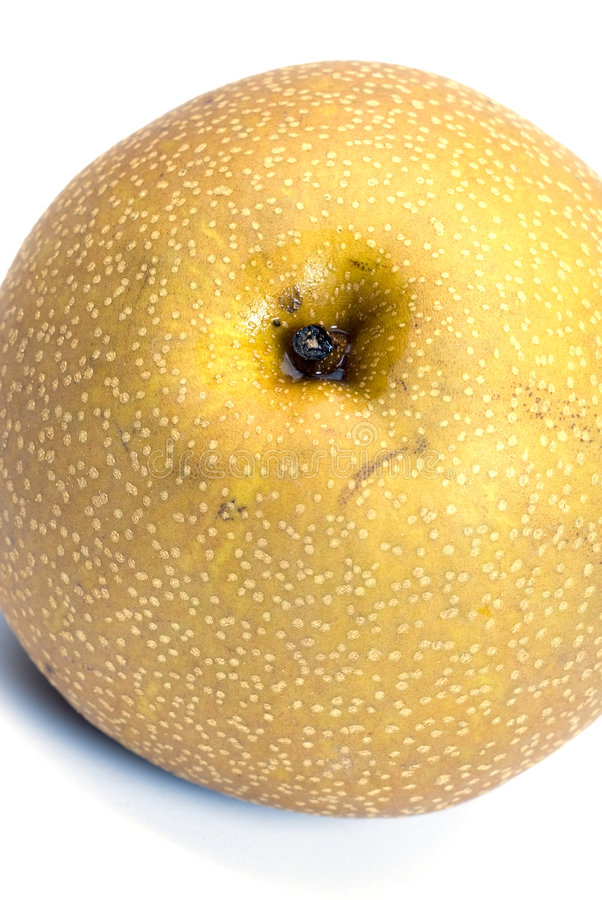 Asian nashi pear. Also known as japanese chinese korean stock image