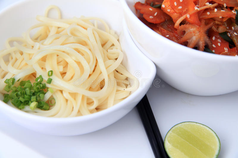 Download Asian Noodle With Baby Octopus Stock Photo - Image: 22793974
