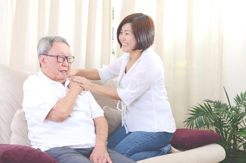 Mature Asian Man Shoulder Pain Stock Photos And Images