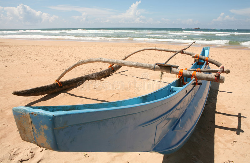 Asian outrigger canoe royalty free stock image
