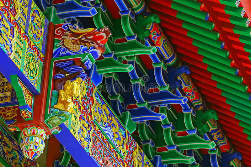 Asian pagoda architecture. Intricate details and designs of asian pagoda architecture stock image