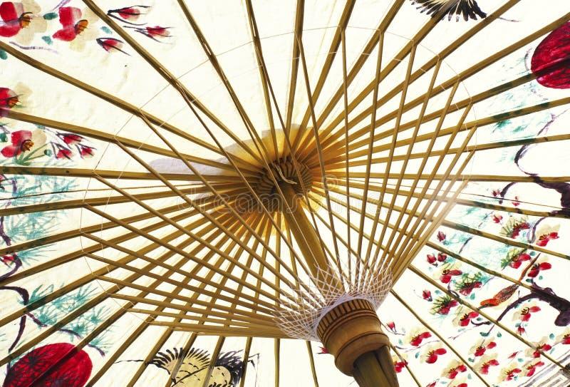 asian paper traditional umbrella 免版税库存照片