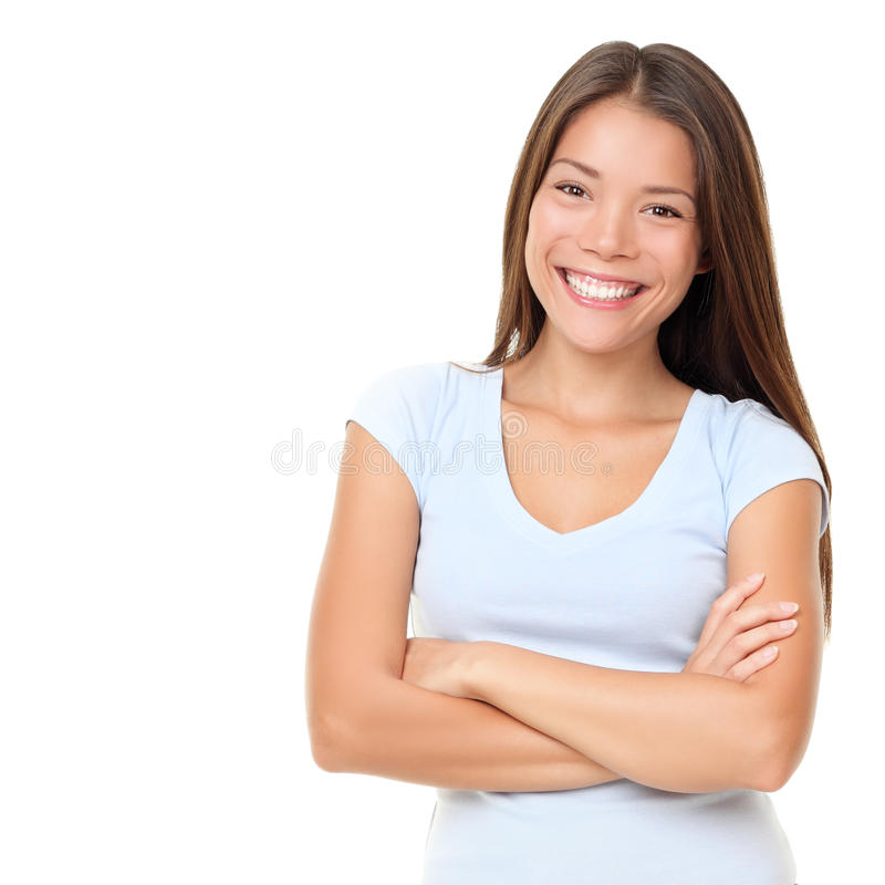 Asian people: Casual asian woman isolated stock images