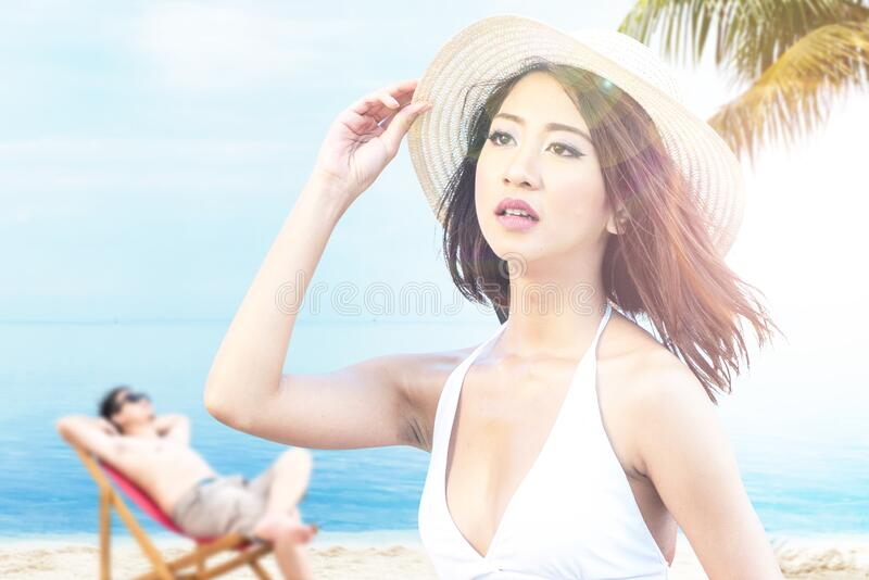 Asian people having fun and relaxing stock images