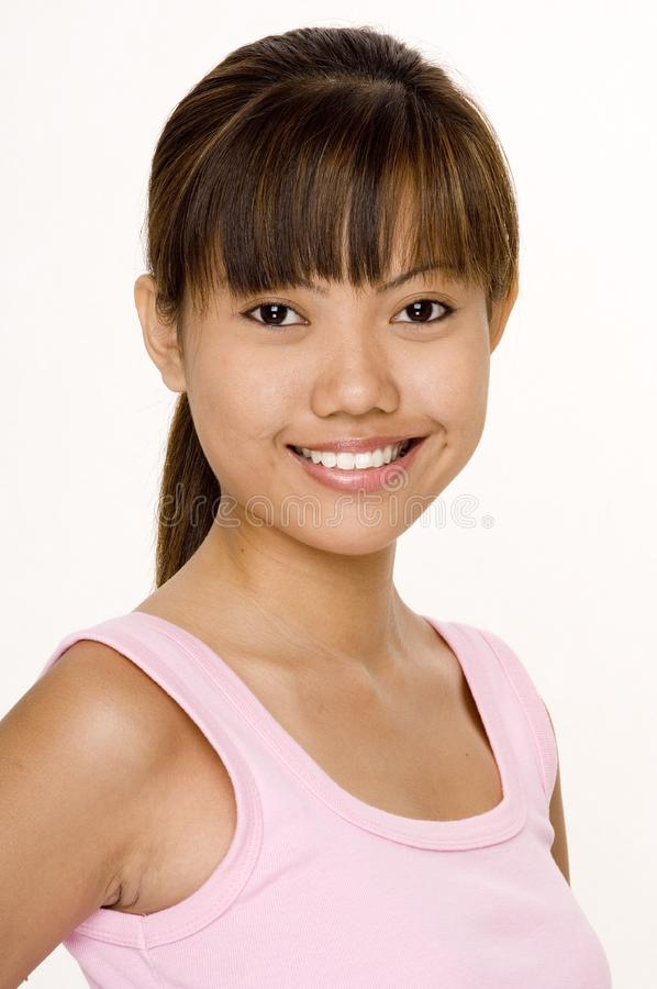 Asian In Pink 11 royalty free stock photos