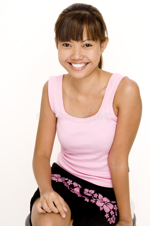 Download Asian In Pink 16 stock photo. Image of slim, beauty, malay - 335100