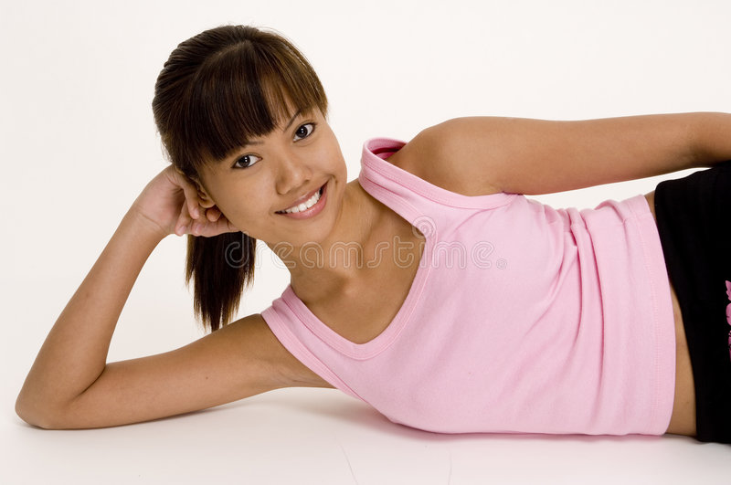 Download Asian In Pink 18 stock photo. Image of fringe, girl, pink - 336268