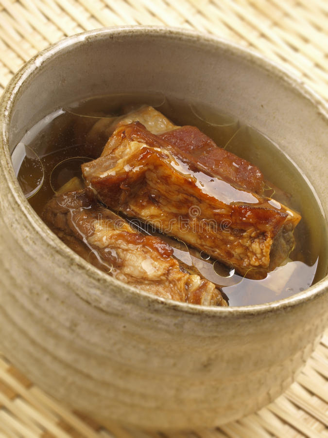 Asian Pork Rib Broth Stock Photo