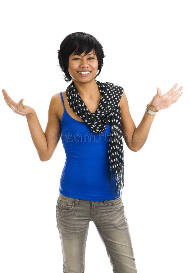 Download Asian Pretending To Have Wings Stock Image - Image of adult, stand: 8078575