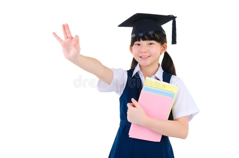 Asian primary student royalty free stock image