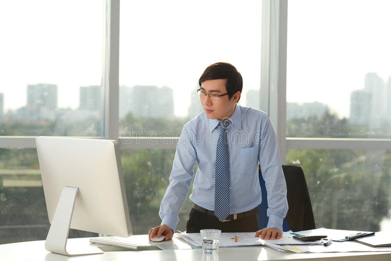 Asian project manager stock photos