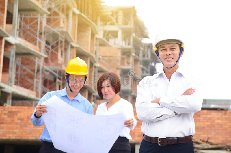 Building construction site stock photography