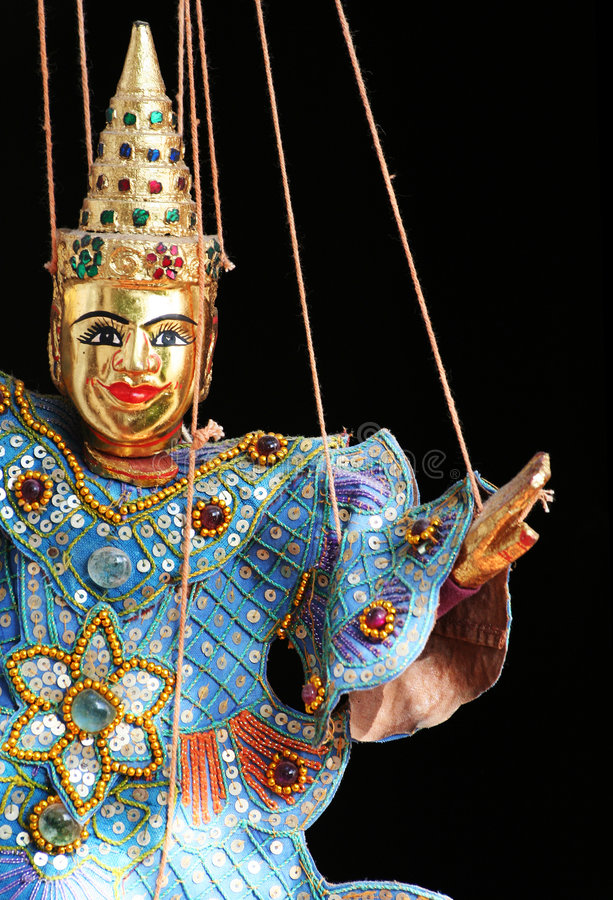 Asian puppet stock image