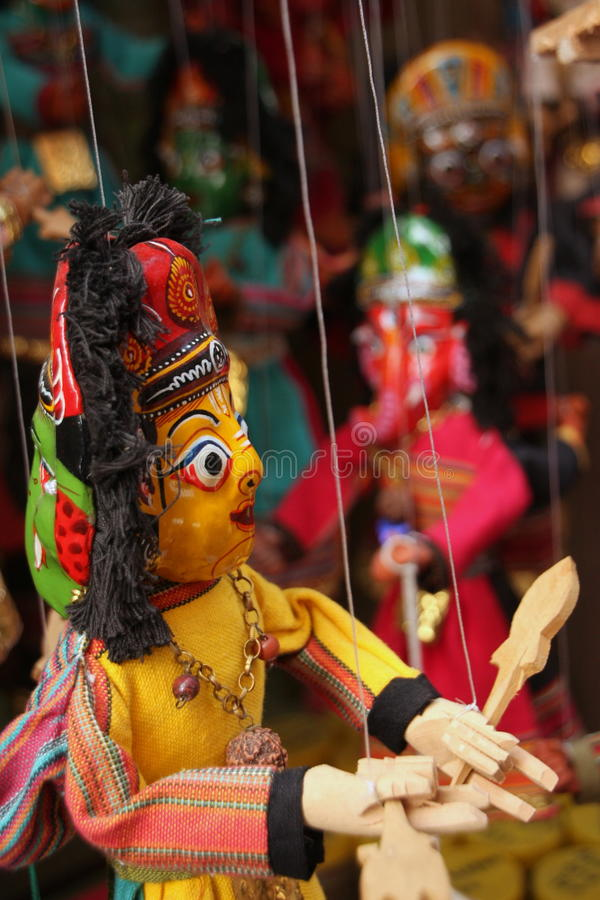 Asian puppets stock photo