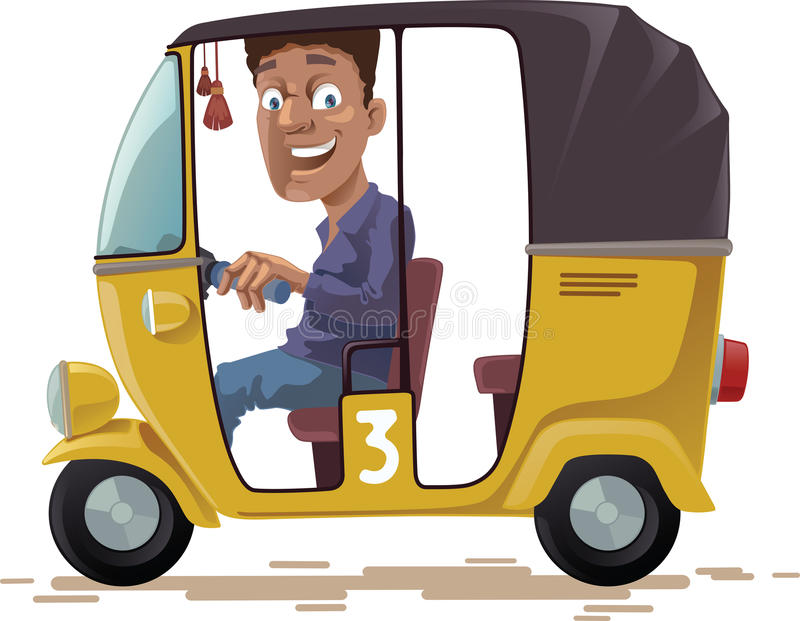 Asian Rickshaw royalty free illustration