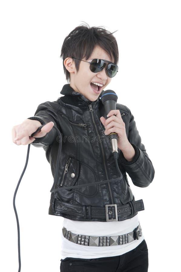 Asian rock star royalty free stock photos