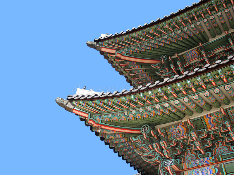 Asian roof detail stock photo