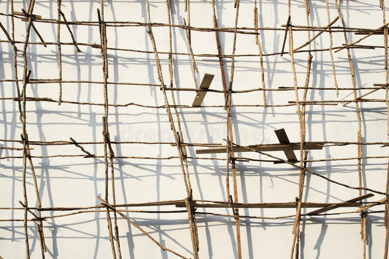 Asian Scaffolding royalty free stock photo