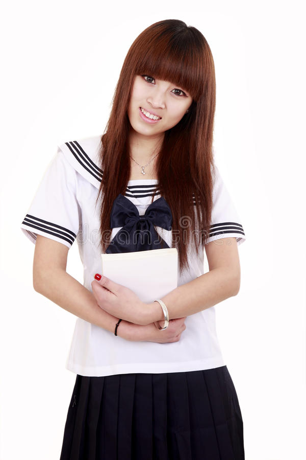 Asian schoolgirl royalty free stock image