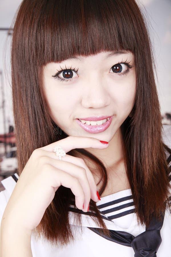 Asian Schoolgirl Portrait Royalty Free Stock Photo