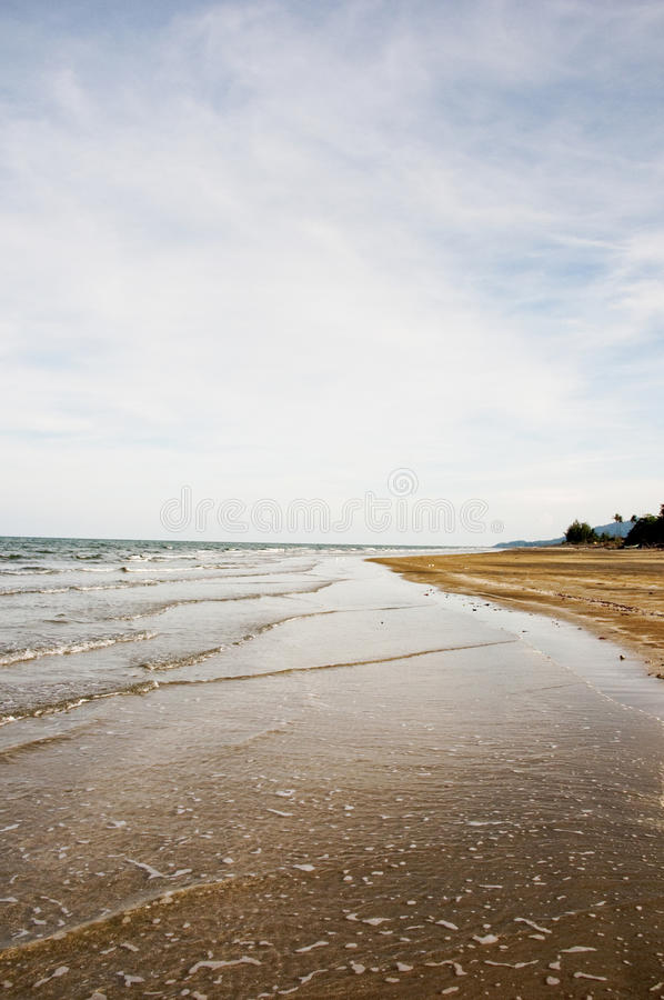 Asian the Seaside. THE OCEAN WAVES AND BEACH SCENERY stock photos