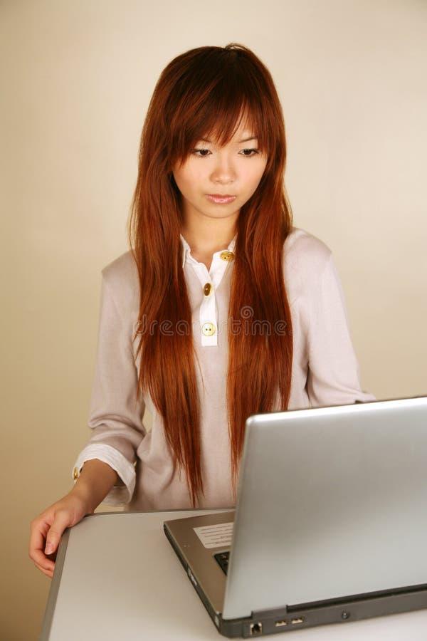 Asian secretary royalty free stock photo