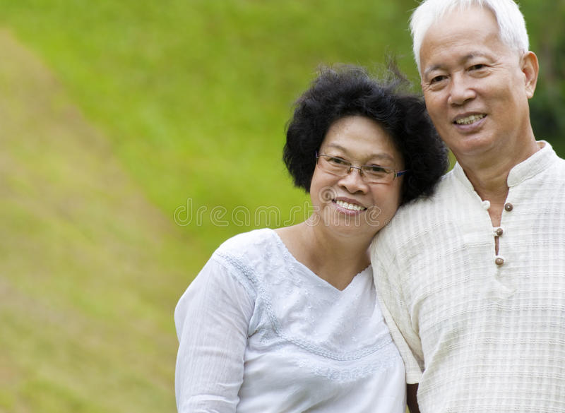 Download Asian senior couple stock image. Image of garden, cheerful - 20679131