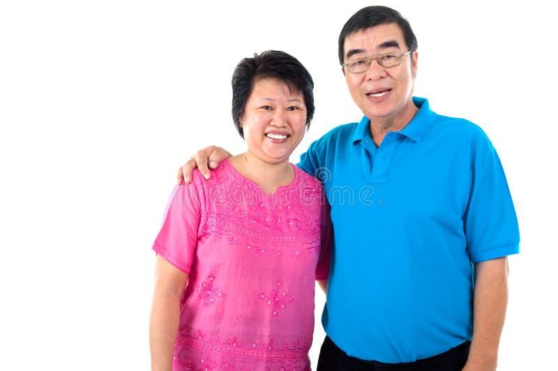Asian senior couple royalty free stock image