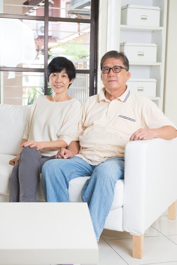Asian senior couple stock images