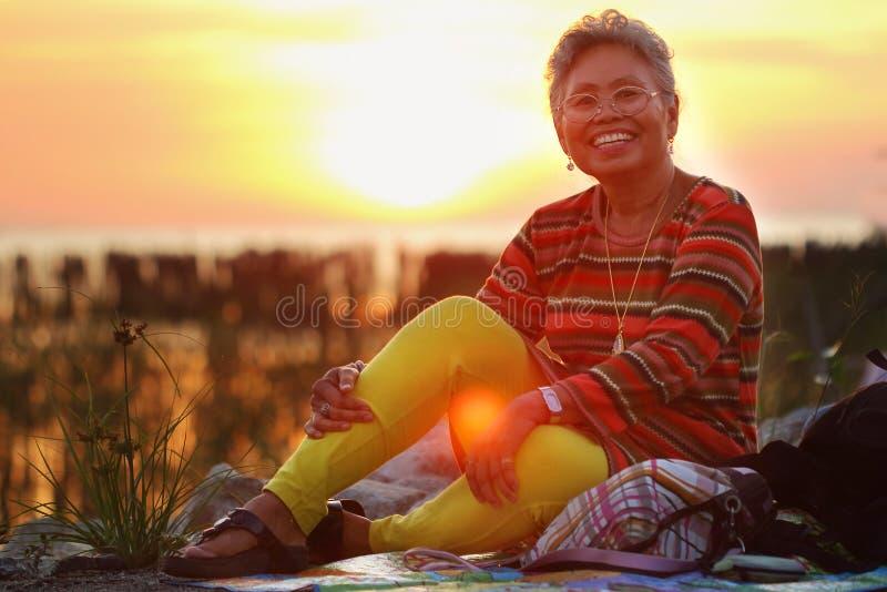 Asian seniors royalty free stock image