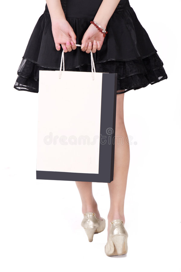 Download Asian shopping girl stock image. Image of bags, people - 8497429