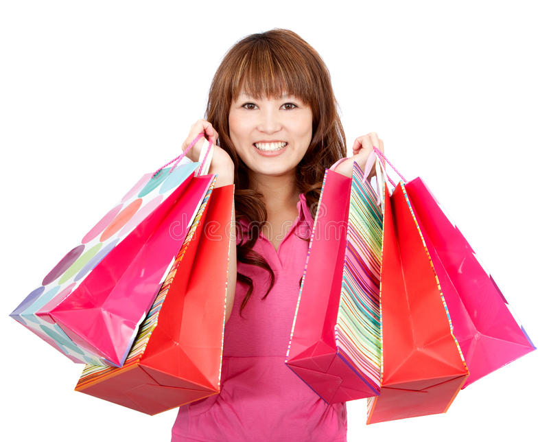 Download Asian shopping woman stock photo. Image of japanese, pretty - 15654548