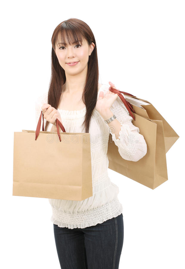 Download Asian shopping woman stock photo. Image of japanese, buying - 22869626