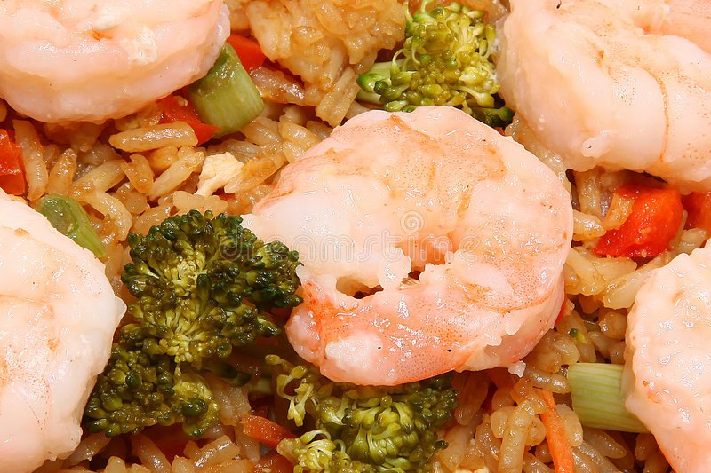 Asian Shrimp Fried Rice stock images