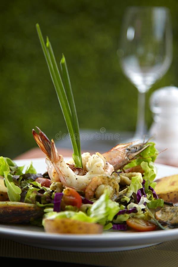 Asian shrimp salad royalty free stock image