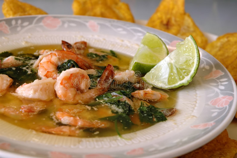 Download Asian Shrimp And Spinach Soup Stock Image - Image: 4776507